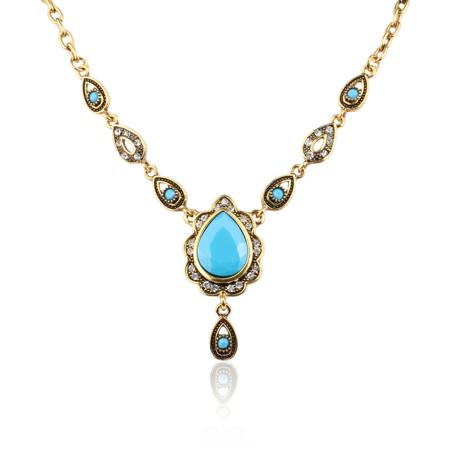 Yunkingdom Ethnic Turkish style Necklaces for Womens