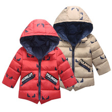 Kids Boys Jackets Children Clothes 2018 New Autumn Winter Girls Coats Cotton Down Baby Hooded Warm Outerwear 2 3 4 5 6 7 8 Years 2018 new 5 16 year boys winter coats warm casual fashion children hooded outerwear boys down jacket 90% duck down coats 4color