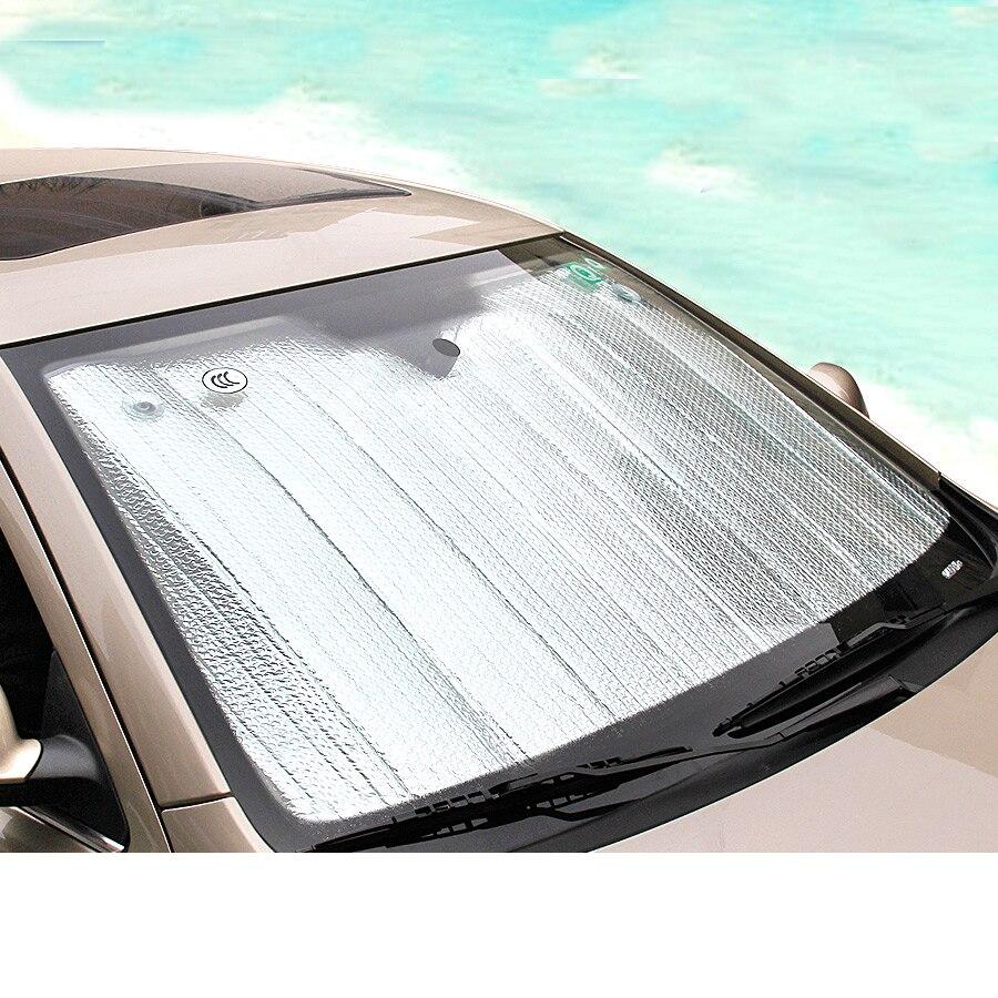 lsrtw2017 car front window Sun Shade UV Protect for hyundai solaris ix35 i30 elantra accent tucson santa fe ix25 sonata