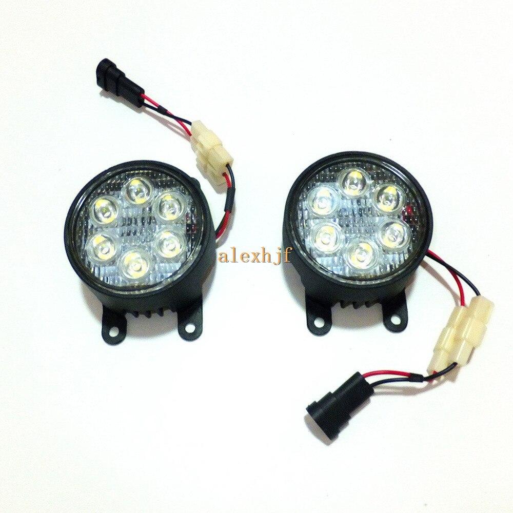 July King 18W 6LEDs H11 LED Fog Lamp Assembly Case for Nissan Aprio NP200 Pixo Cabstar, 6500K 1260LM LED Daytime Running Lights