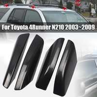 4PCS/Set Glossy Black ABS Plastic Roof Rack Bar Rail End Replacement Cover Shell For Toyota 4Runner N210 2003~2009
