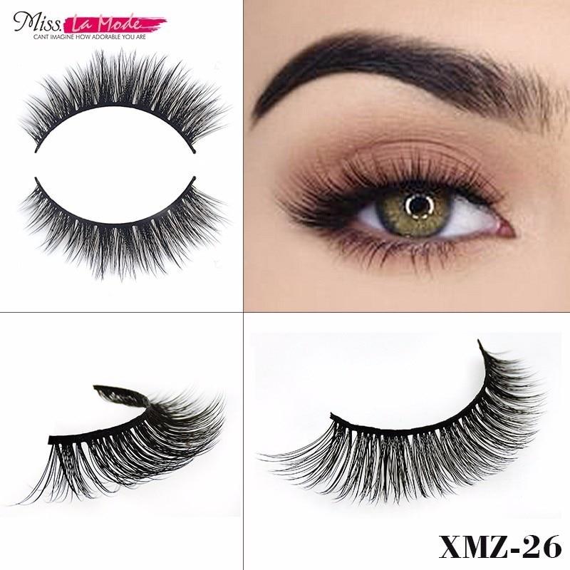 Misslamode 3d Mink Eyelashes 3d Mink Hair Lashes Handmade Natural False Eyelashes Fake Lashes Mink Strip Eyelash Extension XMZ26