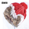 Girls hats rabbit hair hat with ears  woman's hats winter knitting patterns hat winter caps for women Rabbit hair cap