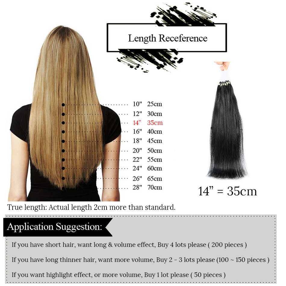 "MRSHAIR Micro Ring Hair Extensions 1g/Stand 50pieces Machine Remy Micro Bead Hair Loop Human Hair 14""-22"""