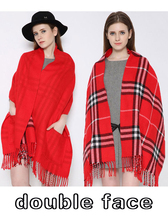 Winter Fashion Girls Tartan Scarf Women Poncho Bandana Plaid Scarves New Designer Acrylic Basic Shawls Womens Luxury Brand Wrap
