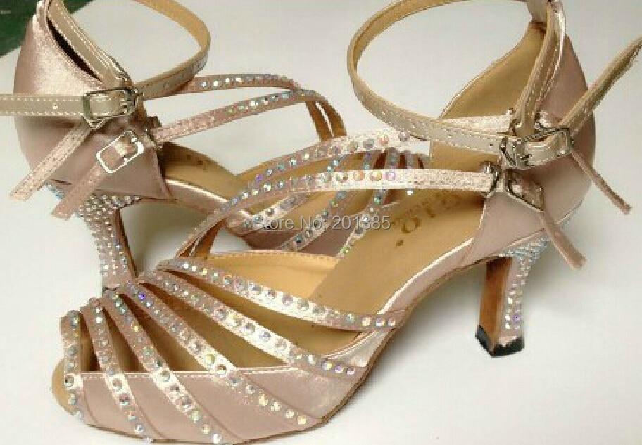 Nove dame djevojke meso saten kristalno salse plesne tenisice cipele latino plesne cipele Mambo cipele za ples sve veličine