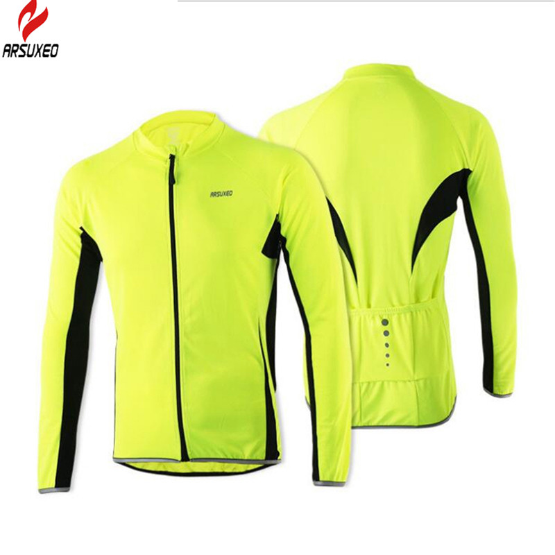 ARSUXEO Bicycle Jersey Outdoor Sports Cycling Jersey Jacket Breathable Bike Bicycle Long Sleeves MTB Clothing Cycling Jersey donen women s cycling jersey clothing outdoor sport bike cloth bicycle jacket short sleeve jersey breathable perspiration