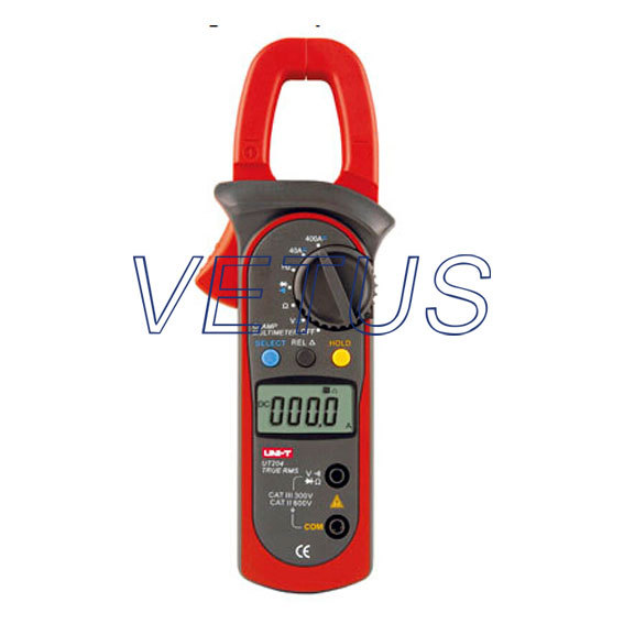 ФОТО UNI-T UT204 LCD Digital Clamp Multimeter AC DC clamp meter with TRUE RMS