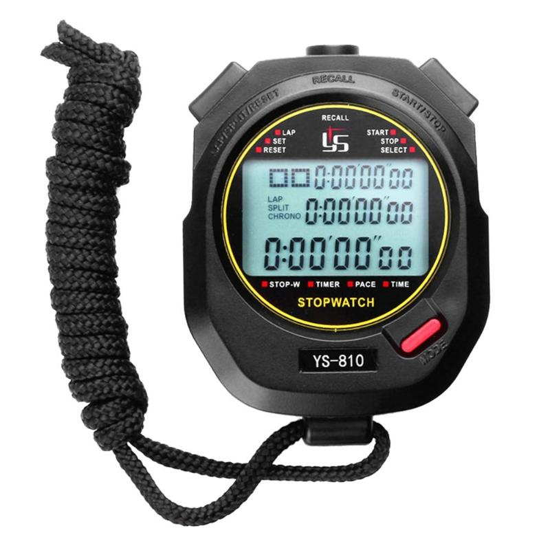 Professional Digital Stopwatch Timer Multifuction Portable Outdoor Sports Running Training Timer Chronograph Stop Watch 2018 fashion digital professional handheld lcd chronograph sports stopwatch stop watch teacher s watches men s relogios f80