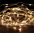 33Ft 10M 100LED Copper Wire string lights Fairy Lights for Outdoor Christmas Wedding Party Decor 12V DC Power Adapter Included
