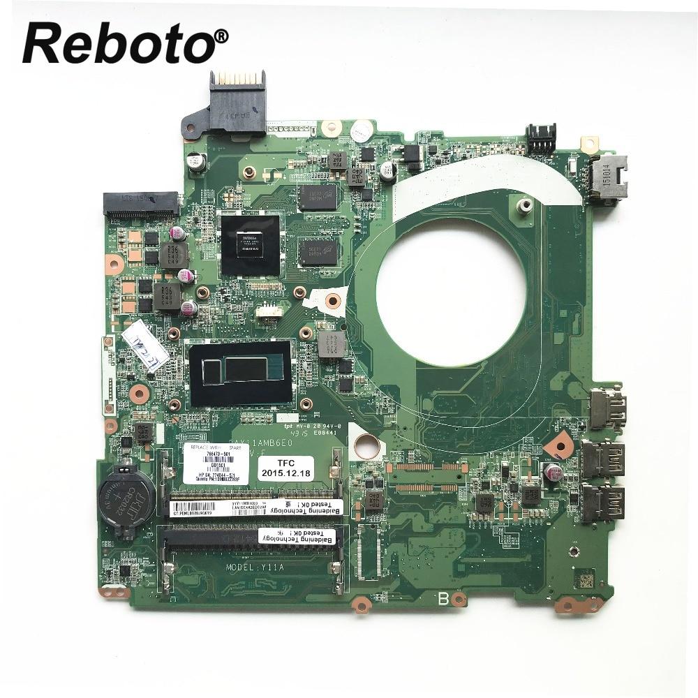 Original For HP 15 P Laptop Motherboard 766473 501 With SR1EF I5 4210U DDR3L 840M 2GB