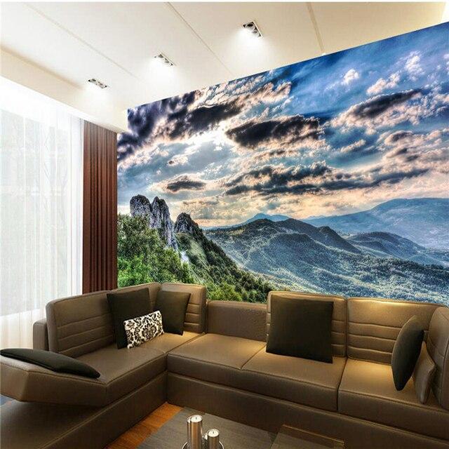 Aliexpress  Buy Wall Panel 3d Wallpaper Alpine Clouds Open - 3d wallpaper for living room