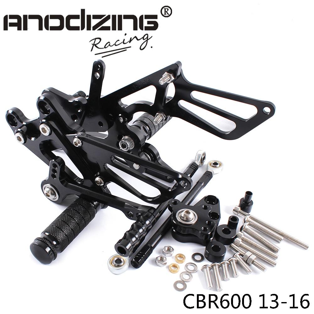 ФОТО Full CNC aluminum Motorcycle Rearsets Rear Set For HONDA CBR600RR NON-ABS 2013-2016