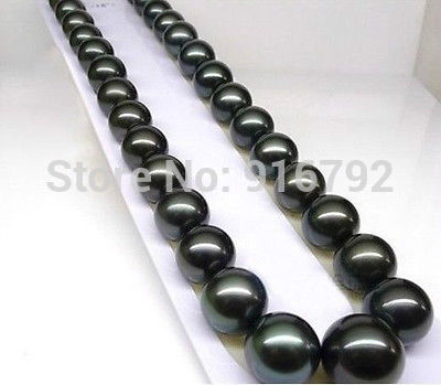 Free shipping@@@@@ Wholesale>>FREE BOX 2014 HOT SELL NEW 18'' 10-11mm AAA+ Tahitian Black Pearls Necklace a hot sell new free shipping handmade jadoku ethnic clothing chain yaolian multipurpose silver tube fluids necklace