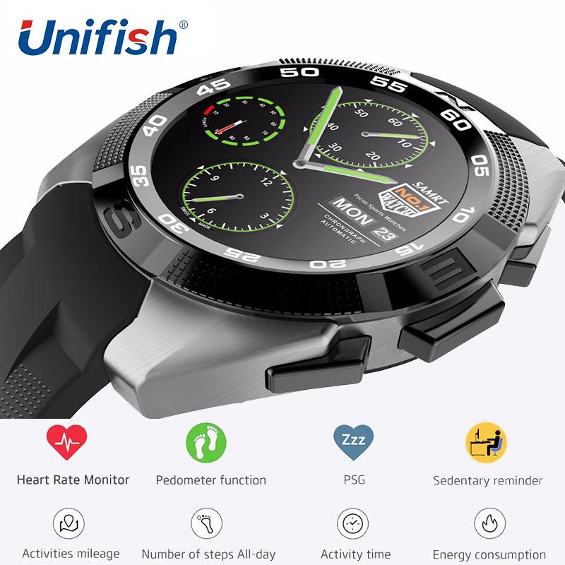 Prix pour UniFish UG5 Smartwatch Téléphone MT2502 240*240 380 mAh Bluetooth 4.0 Coeur Taux Smart Watch Podomètre Sport Montres iOS Android