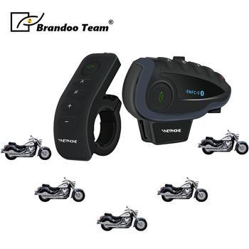 5PCS Motorcycle Intercom Helmet Headsets Wireless Bluetooth Interphone Handsfree Waterproof earphone