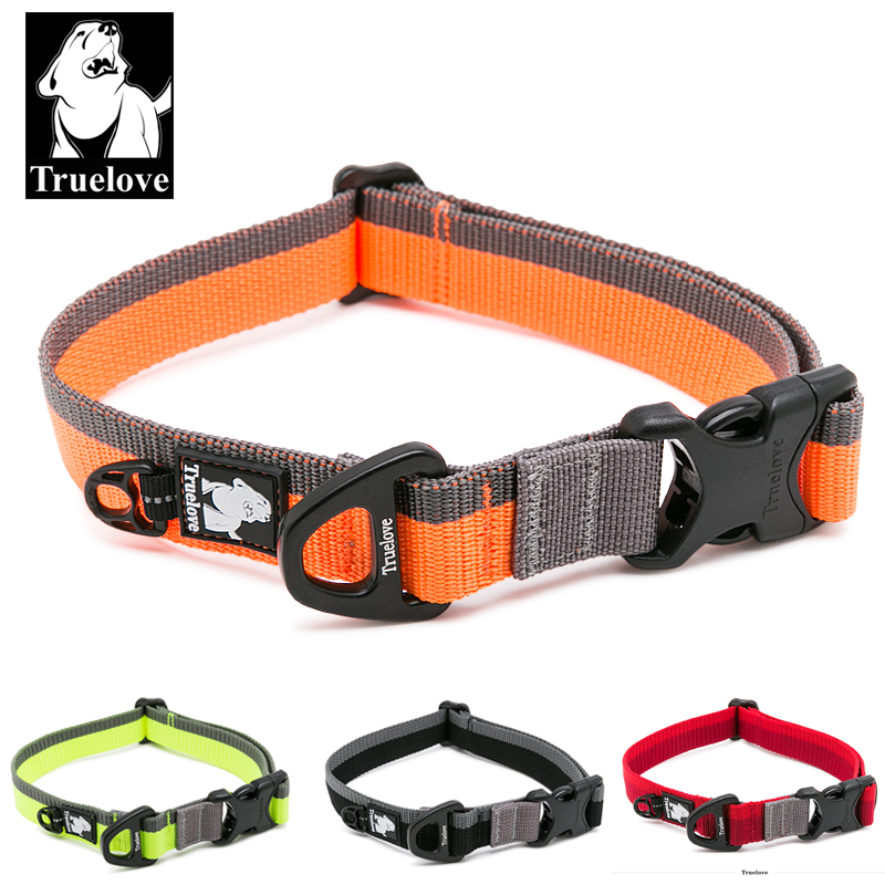 Truelove Dog Collar Nylon for Small Medium og Big Dogs Dog Neck Belt Trening Walking Running TLC5171