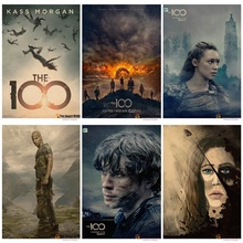 The 100 movie poster Vintage Retro Antique Poster Wall Sticker Home Decora