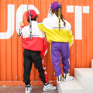 Image 4 - ילדים ספורט אימונית בני בנות 10 12 14 שנים היפ הופ תחפושות ילדים ג אז רחוב Dancewear בגדי ריקוד שלב הצג