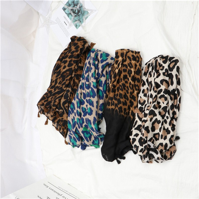 Autumn Winter Fashion Sexy Leopard Dot Viscose Shawl Scarf Ladies Spain Brand High Quality Print Wrap Muffler Muslim Hijab Sjaal