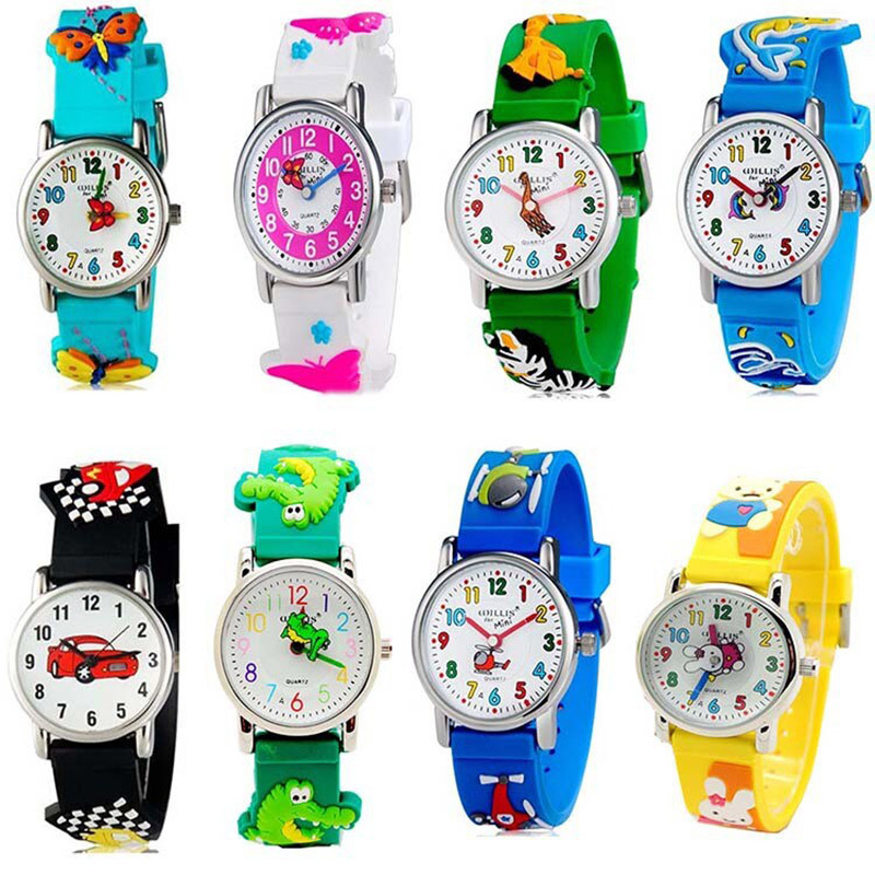 New Style Lovely Cartoon Print Quartz Kids Watch With Braid Band Waterproof Wristwatch For Children Boys Girls 3~10 Years Watches