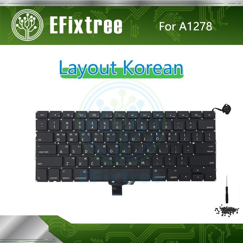 Новый корейский для Macbook Pro 13 ''A1278 винт для клавиатуры Замена отвертки Макет 2009 2010 2011 2012 EMC 2326 2351 2419 2555