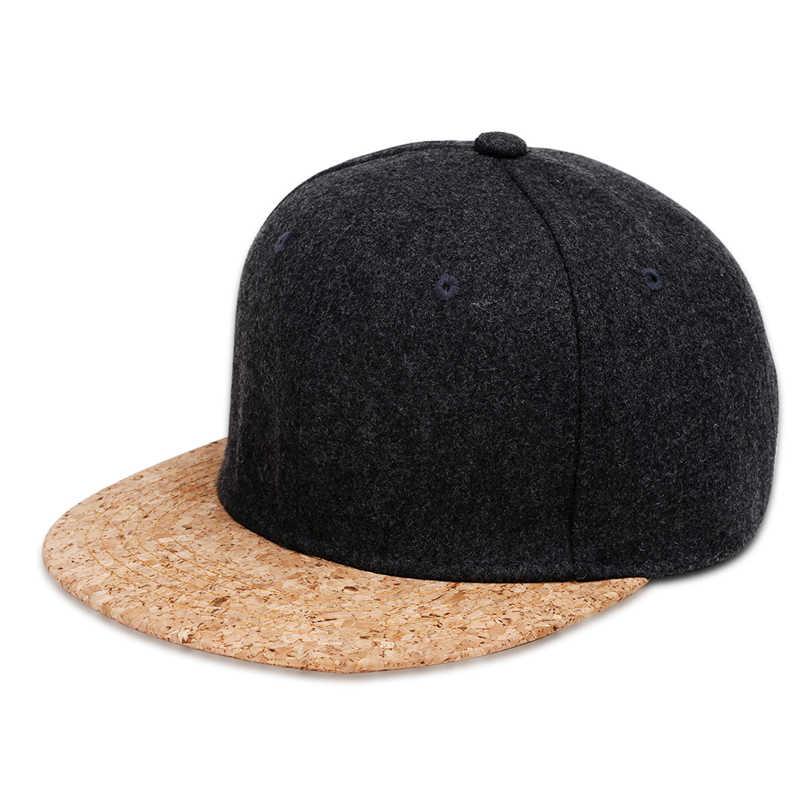Jesień korek moda proste mężczyźni kobiety regulowany kapelusz Hip Hop czapki z daszkiem zimowe proste klasyczne solidne czapki