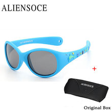 ALIENSOCE Infant Baby TAC Polarized Kids Sunglasses Child Safety Coating Glasses Fashion Outdoor Sport Goggles Shades oculos