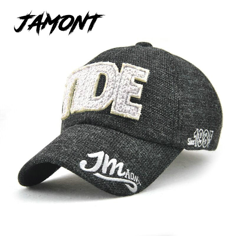 [JAMONT] NEW Fashion Fall Winter Hat For Men Women Baseball Cap Fitted Cotton Snapback Cap Leisure Hat Gorras hombre Casquette 2016 new new embroidered hold onto your friends casquette polos baseball cap strapback black white pink for men women cap