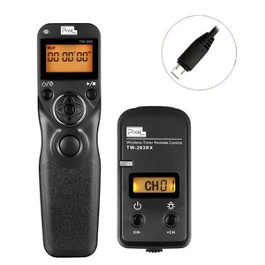 Image 1 - Pixel TW 283/S2 Wireless Trigger Remote Shutter Release Timer Control For Sony a7 a7II a7S a3000 a5000 a6000 a58 DSC RX10 HX300