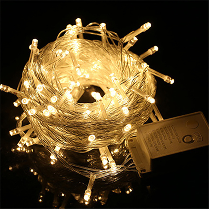 10M 100LED Waterproof String Light Coppery Wire Indoor Outdoor Christmas Garland For Wedding Party Garden Holiday Decoration