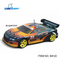 HSP RC CAR 1/10 Nitro Powered 4WD On Road Touring Car with Pivot Ball Suspension RTR (item no. 94122)