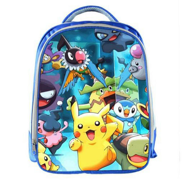 38c46b609d 13 Inch Anime Pokemon Waterproof Backpack Pocket Monster School Bag Ash  Ketchum Pikachu School Backpacks Girls Boys Daily Bag