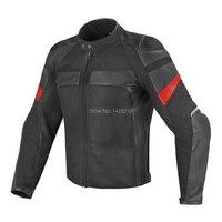Men's Motorcycle Leather Mesh Jacket Dain G. Air Frazer Summer Breathable Pelle Textile Jacket