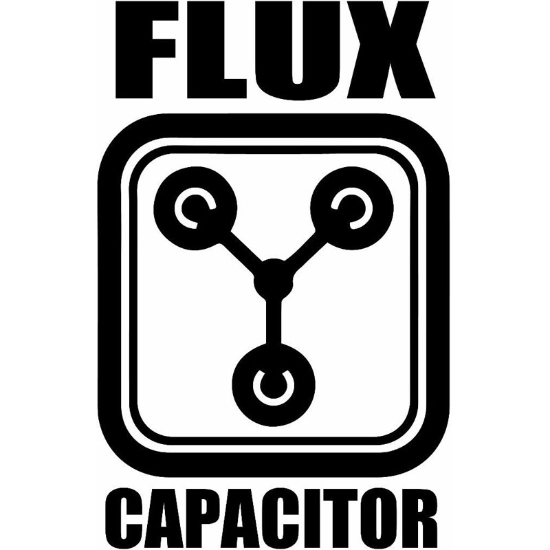 10.3X16CM FLUX CAPACITOR Originality Vinyl Decal Black/Silver Car Sticker Car-styling S8-0962