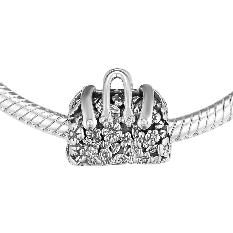 4ecb4f49256c Nueva Mary Poppins bolsa cuentas de plata para mujer pulseras DIY plata 925  joyería niñas flor bolsa Vintage cuentas para joyería hacer