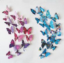 12 pcs 3D Butterfly fridge magnets / stickers