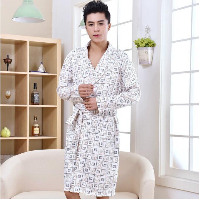 Robe men Kimono men Peignoir homme Autumen cotton 2016 ...