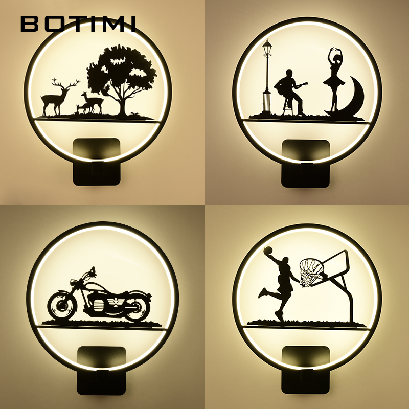 Botimi Decorative LED Wall Lamp 220V Modern Wall Light For Living Room Creative Iron Bedside Lamps Hotel Deco Wall sconce modern creative iron wall lamp living room bedroom bedside wall lamp led lighting led lamp wholesale creative hotel