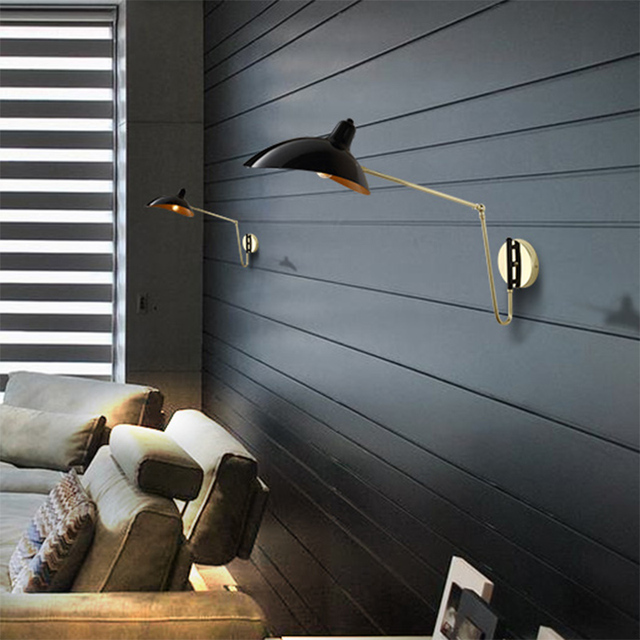 Replica Duckbill Serge Mouille Wall Lamp Nordic Designer Wall Sconce Modern  Simple Loft Bedroom Study Bedside