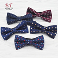 Formal Bowties New Style Butterfly  Man Accessories High Quality Solid Striped Bow Tie For Grooms And Wedding Party