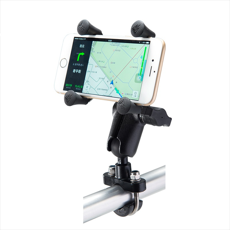 Unbranded OEM Motorcycle Handlebar Rail Mount X Grip Holder for Cell Phone Holder iPhone 7 7