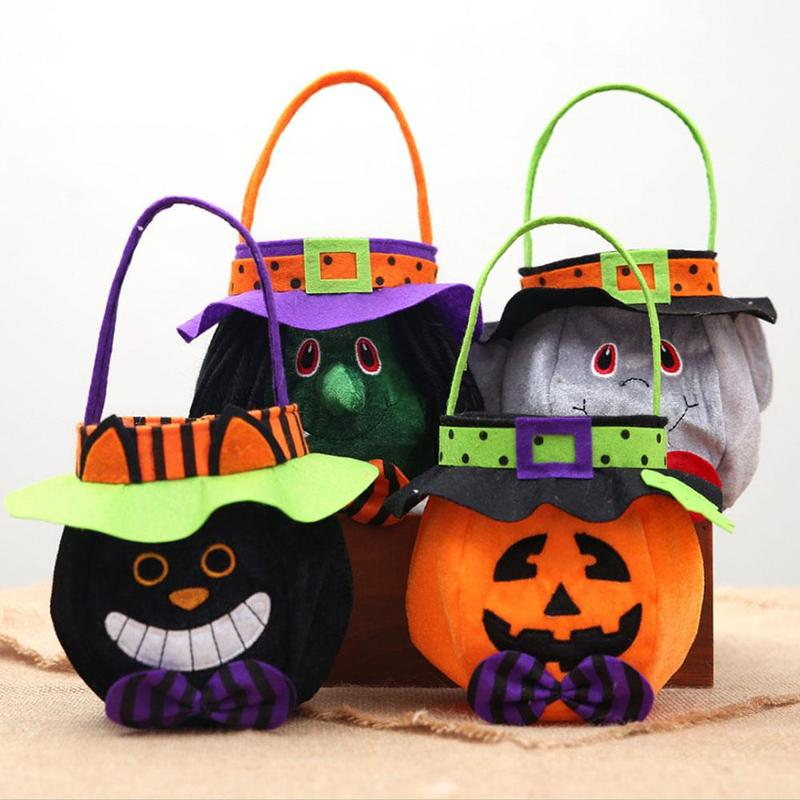 Colorful Halloween Candy Bag Gift Bags Cartoon Animal Pumpkin Trick Or Treat Bag Bag For Children Kids Halloween Decoration