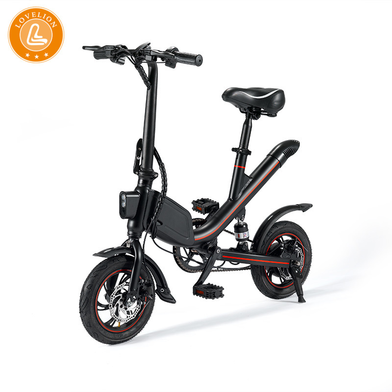 Janobike Falten Elektro Fahrrad Lithium-Batterie Moped Mini Erwachsene Batterie Auto Männer Und Frauen Kleine Elektrische Auto