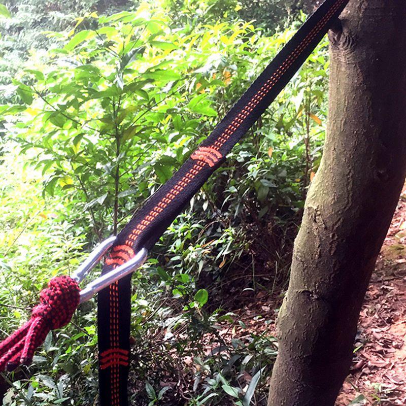 Outdoor Hammock Straps Special Tree Tie Rope High Load-bearing Nylon Webbing Rock Climbing Flat Belt Outdoor Tool