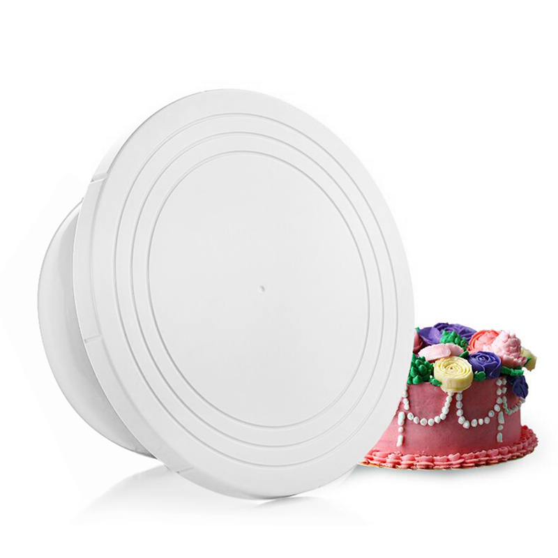 New DIY Cakes Decoration Turntable Manually Rotating Round Shaped Cake Mounting Pattern Tool 301-0208