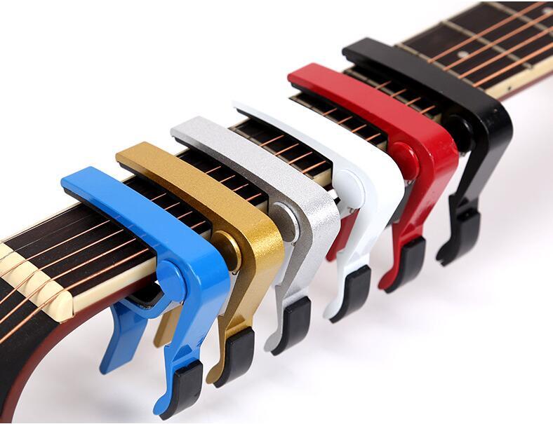 Aluminium Alloy Metal Guitar Capo Quick Change Clamp Key Acoustic Guitar Capo