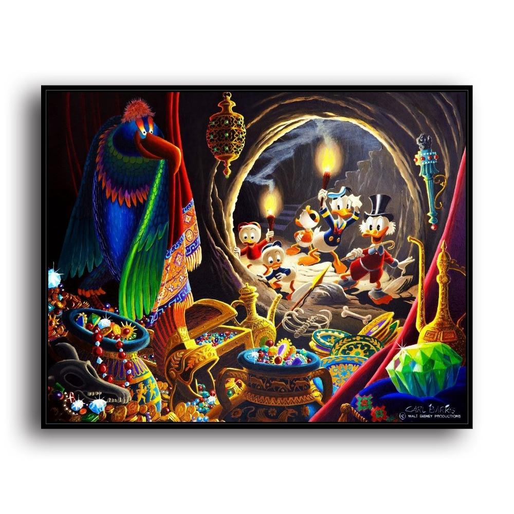 Elegant H2045 Onkel Scrooge Mcduck Donald Ente Tier. HD Leinwand Drucken Home  Dekoration Wohnzimmer Schlafzimmer Wand Bilder Kunst Malerei
