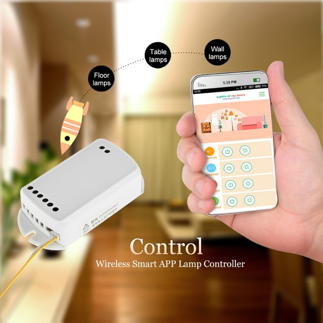 smart acoustic remote switch app remote control switch cellphone wireless lighting controller. Black Bedroom Furniture Sets. Home Design Ideas