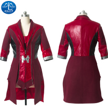 ManLuYunXiao Scarlet Witch Roleplay The Avengers Age of Ultron Cosplay Costume Women Jacket Custom Made Dresswomen Free Shipping цена и фото